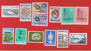 Luxembourg #447-459  MNH OG  1967 commemoratives complete  Free S/H
