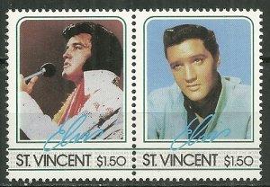 1985 St. Vincent 880a-b  $1.50 Elvis pair MNH
