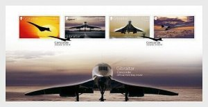 2019    GIBRALTAR  -  CONCORDE  -  SET ON FIRST DAY COVER