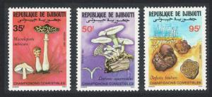 Djibouti Fungi Mushrooms 3v SG#999-1001