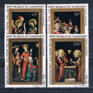Dahomey C132-35 Used set Christmas 1970 (MV0249)