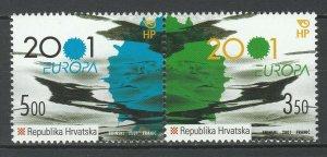 Croatia 2001 CEPT Europa 2 MNH stamps