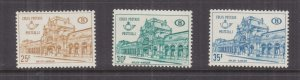 BELGIUM, RAILWAY PARCELS, 1967 Arlon Station set of 3, mnh.