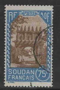 French Sudan Scott 81 Used stamp from 1931-1940 set