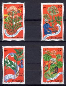 Somalia 1997 YT#543/546 MEDICAL PLANTS Set (4) MNH
