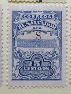 A6P38F183 Salvador 1915 optd S 5c mh*