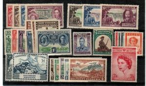 Southern Rhodesia - mint sets (Catalog Value $64.50) - mixed hinged/NH
