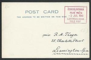 GB 1941 Czechoslovakia Field PO in GB postcard.............................61269