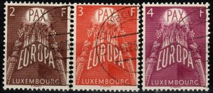Luxembourg #329-31  F-VF Used CV $20.35 (X8656)