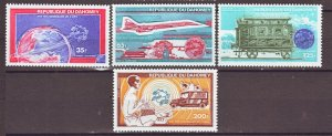 J22309 Jlstamp 1974 dahomey set mnh #c221-4 transportation