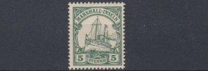 MARSHALL  ISLANDS 1901   S G  G12   5PF  GREEN    MNH