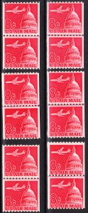 MOstamps - US #C65a Mint OG NH - 6 Line Pairs - Lot # DS-6