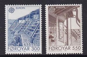 Faroe Islands   #156-157  MNH  1987   Europa  nordic house