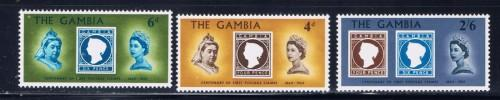 Gambia 238-40 NH 1969 set stamp on stamp