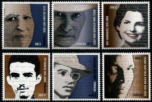 HERRICKSTAMP NEW ISSUES CURACAO Sc.# 315-20 Writers