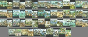 KS 2011 TOGO ANIMALS FISHES BIRDS BUTTERFLIES AFRICAN ECOSYSTEMS 26BL+26KB MNH