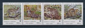 [54102] El Salvador 1988 Wild animals Mammals WWF Wild cats MNH