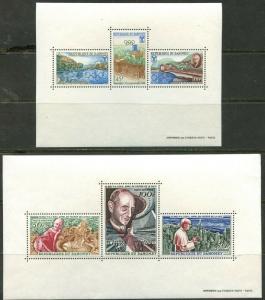 DAHOMEY  Sc#243a//C58a 1966-67 Five Topical Souvenir Sheets OG Mint NH