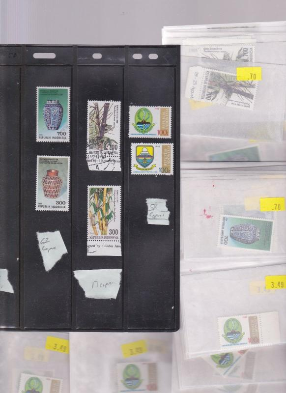 INDONESIA  STAMPS DEALER CLOSEOUT LOT 421 0915