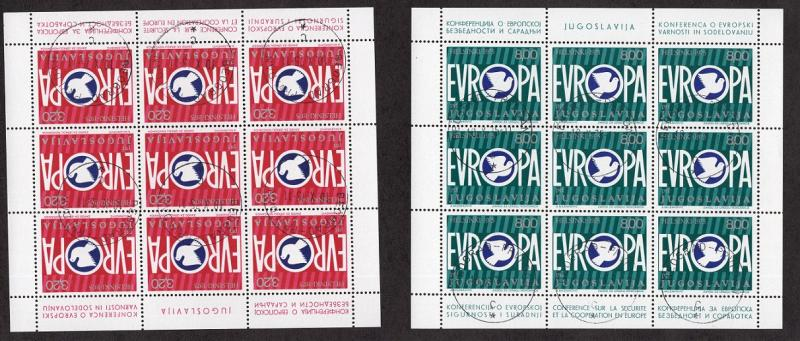 Yugoslavia   #1271-1272   1975  cancelled  in sheets Europa security conference