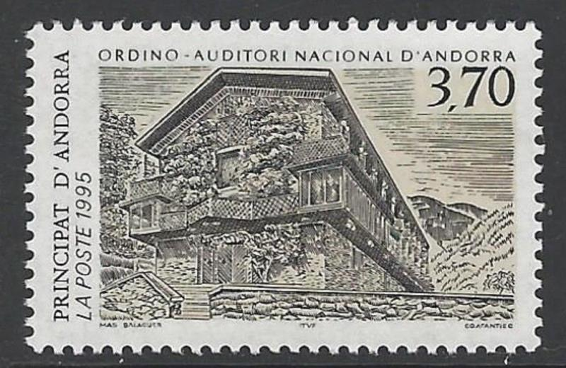 Andorra French 1995 Architecture Auditorium VF MNH (452)