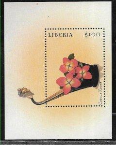 #8508 LIBERIA 2000 FLORA  FLOWERS ORCHIDS 1 SOUVENIRSHEET YV BL 283 MNH