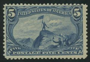#288 5c 1898 VF OG NH P.O. FRESH AU924