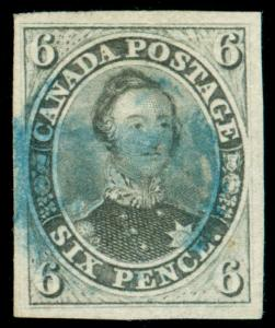 MOMEN: CANADA STAMPS #2 USED PSE & BUHLER CERTS