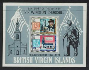 BVI Birth Centenary of Sir Winston Churchill MS SG#MS324
