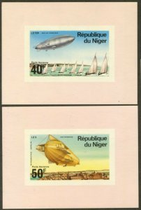 NIGER Sc#C273-C277 1976 Zepplin Anniversary Complete Set of Deluxe SS OG Mint NH