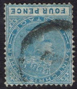 ST CHRISTOPHER 1870 QV 4D WMK CROWN CC INVERTED USED PERF 14