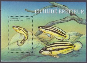 2001 Central African Republic 2717/B656 Sea fauna 7,00 €