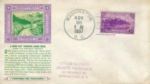 801 3c PUERTO RICO - Laird cachet #70c - DC