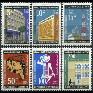 TUNISIA 1962 - Scott# 429-34 Telephone System Set of 6 LH