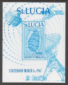 ST LUCIA C1 SOUVENIR SHEET OG NH U/M XF $50 SCV SCARCE