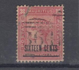 Mauritius QV 16c O/P SGZ63 VFU J4893