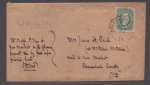 **CSA Cover, SC# 12, Charlottesville, VA, 12/5/1864, M/S Notation