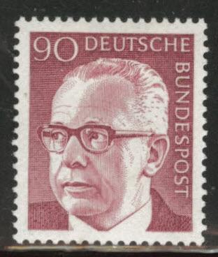 Germany Scott 1037 MH* 1970-1973 President Heinemann stamp