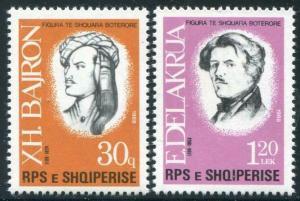 HERRICKSTAMP ALBANIA Sc.# 2256-57 Literature Stamps Mint NH