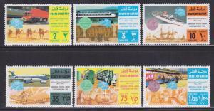 Qatar 384-389 VF-MNH set nice colors cv $ 25 ! see pic !