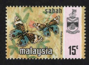 Malaysa Sabah  Scott 29b Used Butterfly stamp
