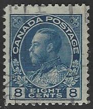 Canada #115 Used Admiral Single Stamp (U8)