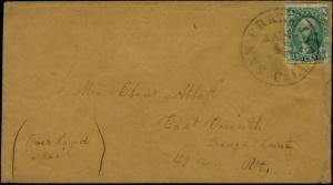 #33 ON COVER W/ REPAIRS FROM SAN FRANCISCO - VERMONT -- SCARCE -- BP7122