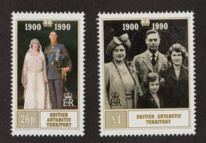 BRITISH ANTARCTIC TERRITORY Sc# 170 - 171  MNH FVF Set-2 Queen Mother 90th