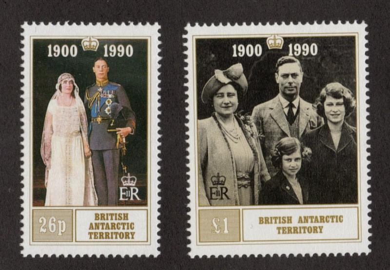 BRITISH ANTARCTIC TERRITORY Sc# 170 - 171  MNH FVF Set-2 Queen Mother 90th