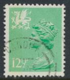 Great Britain Wales  SG W37 SC# WMMH19 Used  see scan 1 left side band