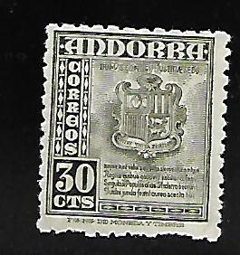 ANDORRA 42 MINT HING COAT OF ARMS