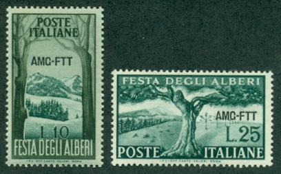 Trieste #136-137  Mint  F-VF NH  Scott $4.00  Trees