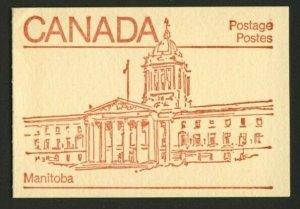 Canada 946b Booklet BK84a Manitoba MNH Maple Leaf
