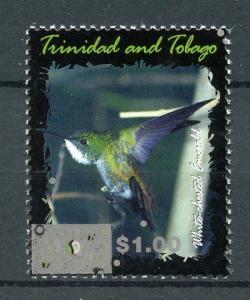 Trinidad & Tobago 2017 MNH Emerald Hummingbird $1 OVPT 1v Set Birds Stamps